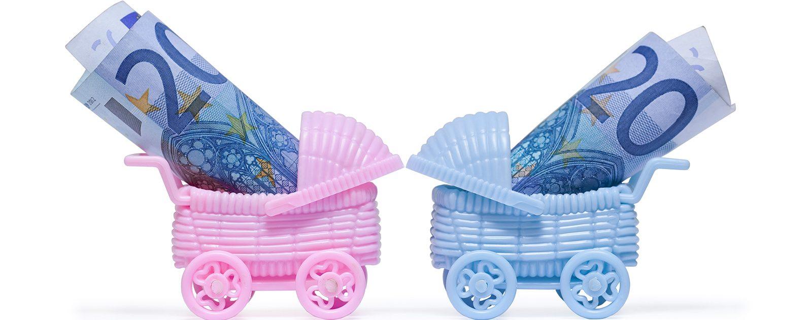 Kinderspielzeug mit Geld: was kostet eine Schwangerschaft?
